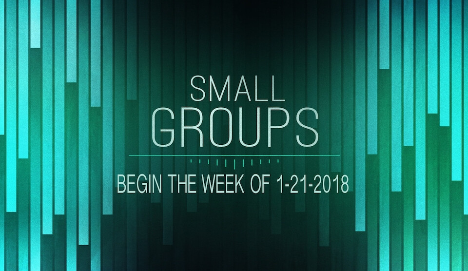 Small Groups Start Back Up